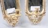 Spegellampetter, ett par, trä, rokokostil, sent 1900-tal.