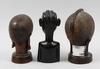 Skulpturer, 3 st, trä, kenya resp madagaskar.