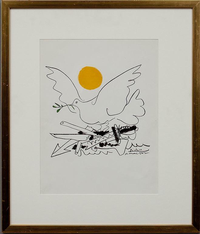 """JULISTE, """"Fredsduva"""", Pablo Picasso, efter."""