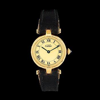 1231. Cartier - Must de Cartier. Gold plated silver. Case no. Ref 00200500. 1851. 24mm.