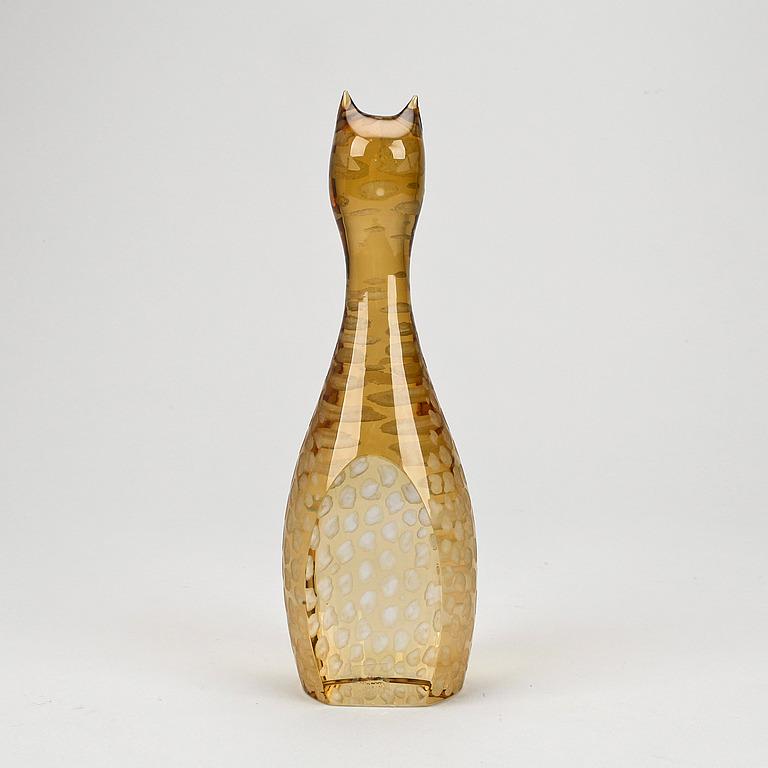 FIGURIN, glas, Vicke Lindstrand, Kosta.