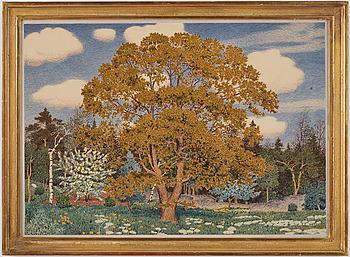 3. OSKAR BERGMAN, Akvarell, signerad Oskar Bergman och daterad 1925.