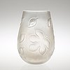 A sven palmqvist cut and blasted 'florida' glass vase, orrefors 1930's 40's