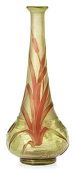925. An Eugène Michel Art Nouveau cameo glass vase, France.