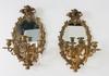 Spegellampetter, ett par, nyrokoko, 1800-talets andra hälft.