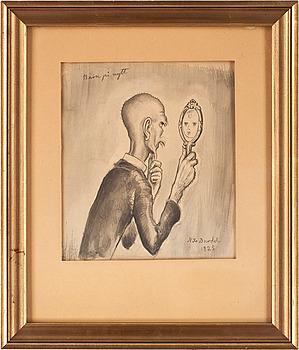 NILS VON DARDEL, lavering, sign o dat 1925.