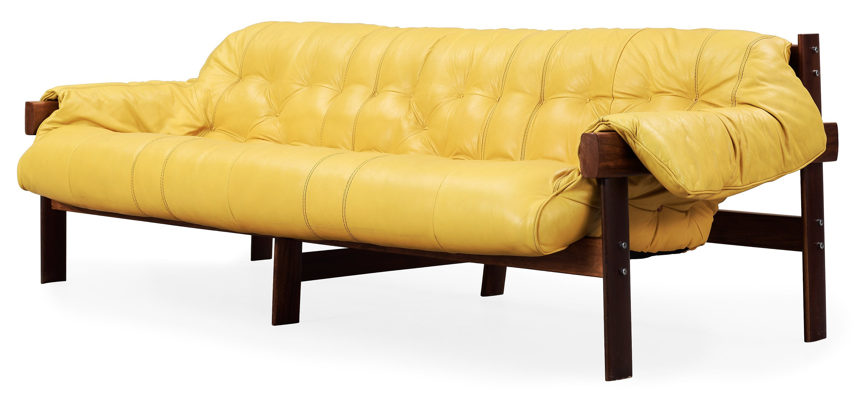A Percival Lafer Palisander And Yellow Leather Sofa Lafer Mp Brasil 1970 39 S Bukowskis