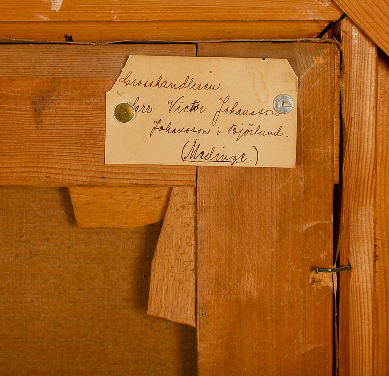 AXEL BORG, olja på duk, signerad och daterad 1877.