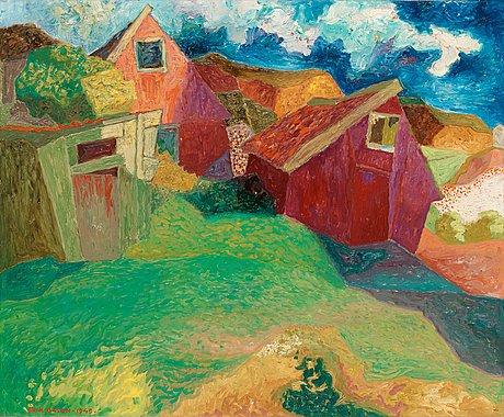 "Erik olson, ""stenhuggarebyn"" (stonemason village)."