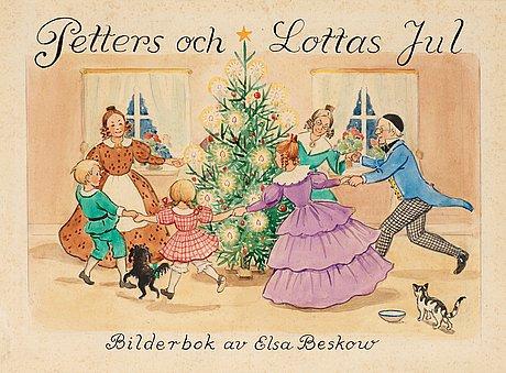 """Elsa beskow, elsa beskow. """"petters och lottas jul""""."""