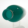An emerald green 'cinese' vase, probably by carlo scarpa, venini, italy.