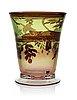 A gunnar cyrén 'graal' glass vase, orrefors 1989.