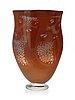 A gunnar cyrén 'graal' glass vase, orrefors 1990.