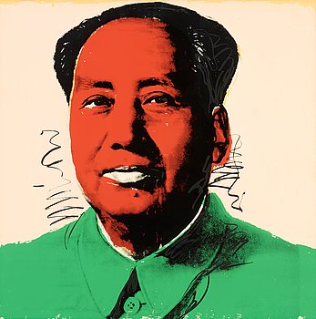 "267. Andy Warhol, ""Mao""."