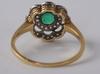 Ring, guld, smaragd och rosenstenar, hugo strömdahl, stockholm 1940.