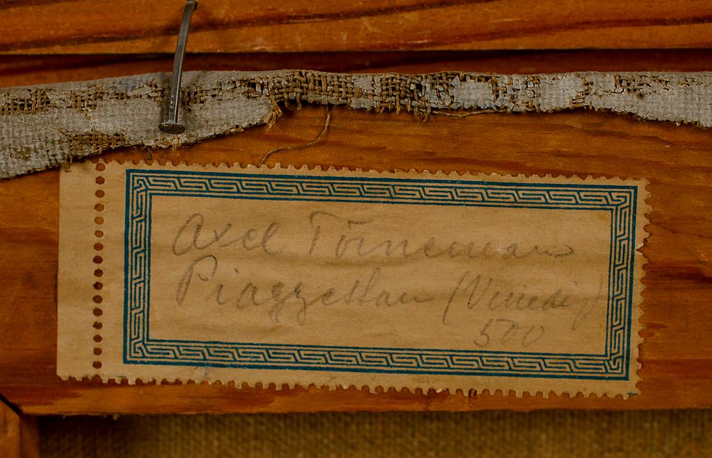AXEL TÖRNEMAN, olja på duk, signerad och daterad 1912.