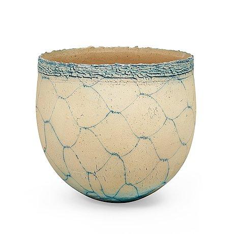 A hans & birgitte börjeson salt glazed stoneware jar, denmark 1990's.