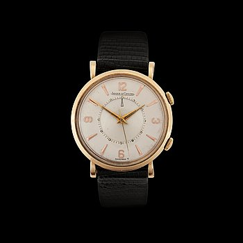 1230. Jaeger-LeCoultre - Memovox. Manual winding. Gold. 1950/60s. 34mm. Case number. 591205 P.