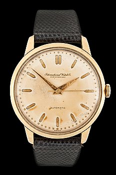 1221. IWC - Automatic. Automatic. Gold / leather strap. 1950's. 34mm.