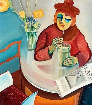 111. BO VON ZWEIGBERGK, Kvinna på café.