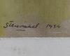 Stenvinkel, jan, gouache, sign o dat 1954.
