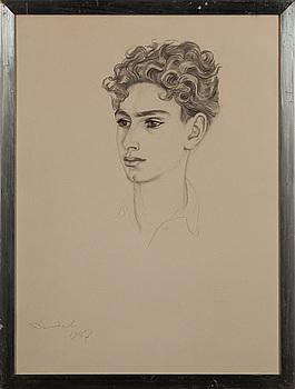 NILS VON DARDEL, teckning signerad och daterad 1937.