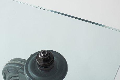 A gae aulenti 'tavola con ruote' table, fontana arte, italy.