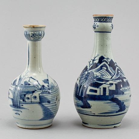 Vaser, 2 st, porslin, kina, 1800-tal.