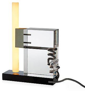 A Per B Sundberg glass table lamp, Orrefors 2004, limited edition.