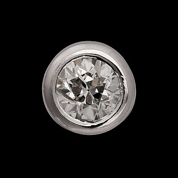 A brilliant cut diamond pendant, app. 0.50 ct. 18k white gold. Quality app. G/VS