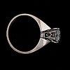 A brilliant cut diamond ring, 0.74 ct. made in gothenburg 1975.