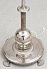 An elis bergh silver plated floor lamp by c.g. hallberg, stockholm ca 1925.