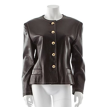 e9cac3215af ESCADA, a black leather jacket.