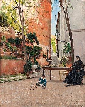16. Hugo Birger, Scene from Alhambra.