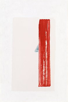"""429. Cecilia Edefalk, """"Red paining with nose""""."""