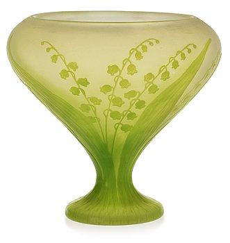 822. A Karl Lindeberg Art Nouveau cameo glass vase, Kosta.