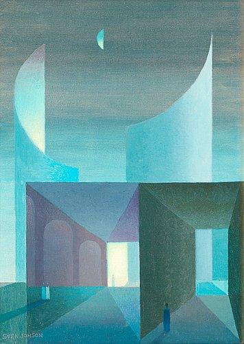 """Sven jonson, """"nattbild"""" (night)."""
