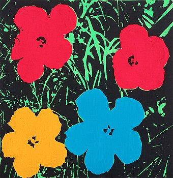 """400. Richard H. Pettibone, """"Andy Warhol (Flowers)""""."""