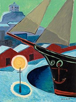 "146. John Jon-And, ""Skuta i hamn"" (Ship in harbor)."