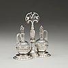 A georg jensen 830/1000 silver cruet-stand, copenhagen 1921.