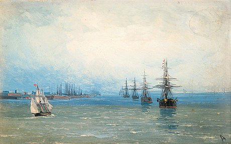 Ivan konstantinovich aivasovsky, marine motif.