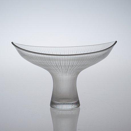 A tapio wirkkala glass vase, iittala, finland, model 3523