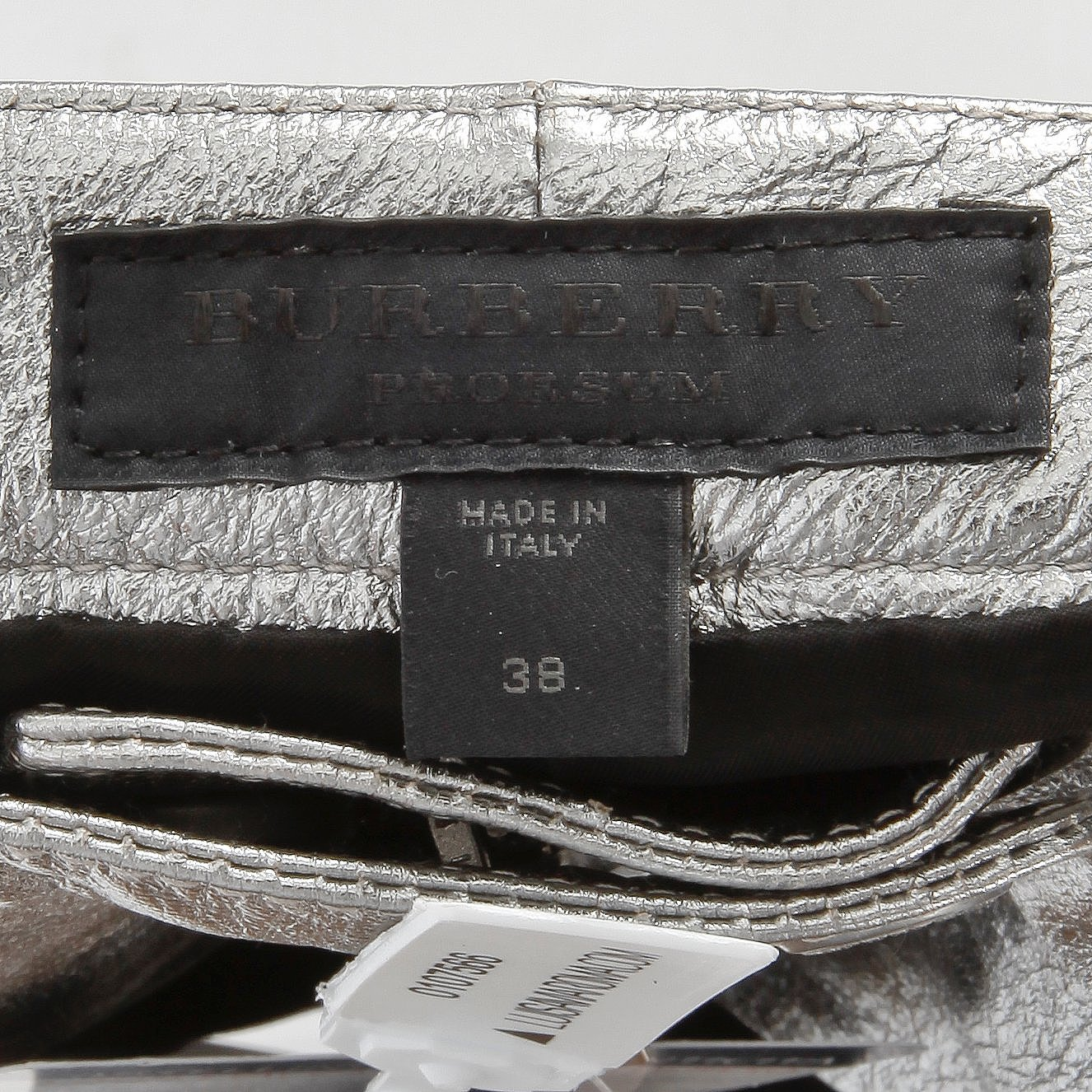 hot-selling professional various design top fashion BURBERRY prorsum, a pair of silver colored leather pants ...