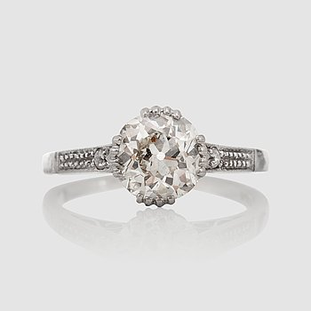 1124. RING med gammalslipad diamant, ca 1.20 ct. Kvalitet ca H-I/SI1.