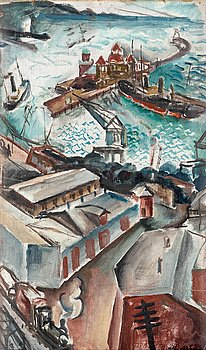 115. Albert Abbe, Motif from Helsingborg harbour.