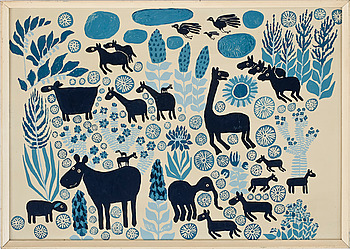 BENGT ELDE, lackfärg på pannå, signerad och daterad 1969.