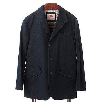 ee7854dcea3 CONELIANI, a navy blue cotton jacket.