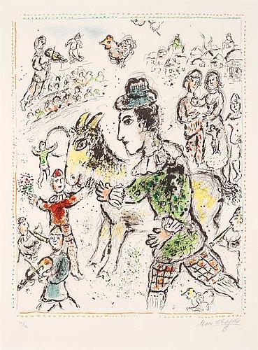 "Marc chagall, ""clown a la chévre jaune""."