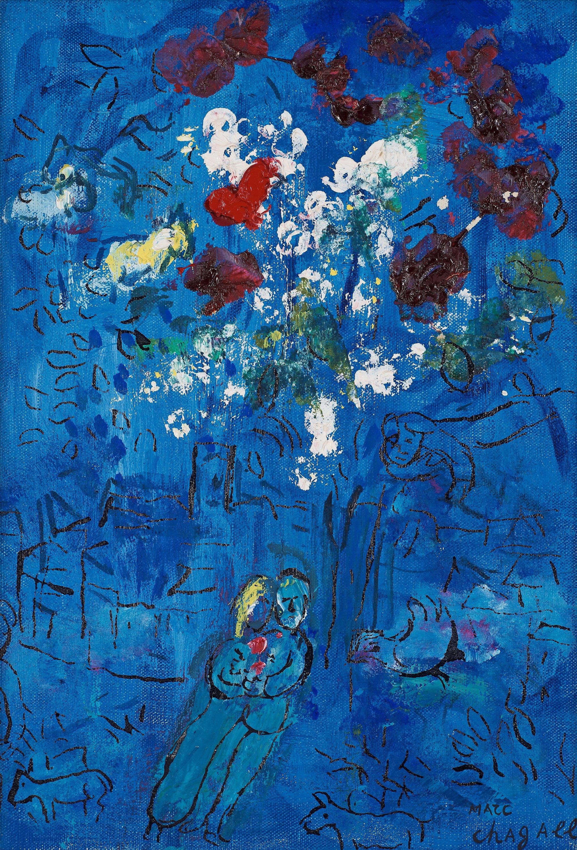 marc chagall le bouquet au dessus de vence bukowskis. Black Bedroom Furniture Sets. Home Design Ideas