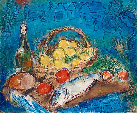 "Marc chagall, ""nature morte""."